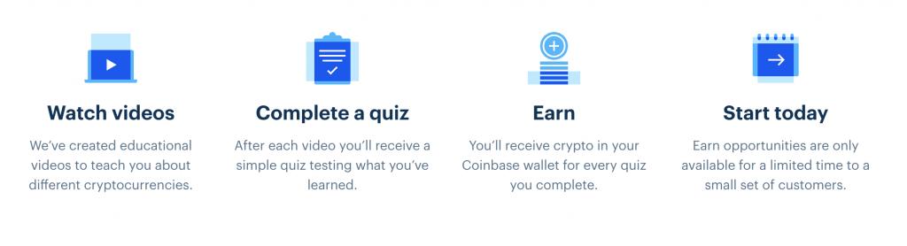 how coinbase earn works